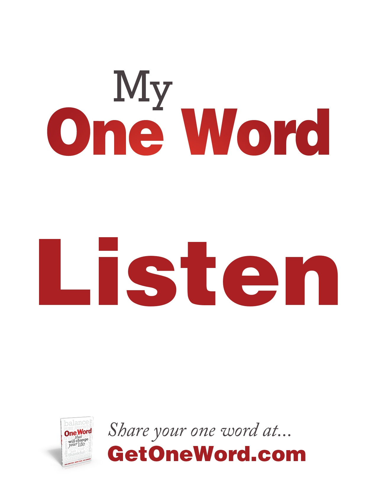 My one word…